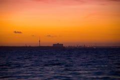 Stadt-Horizont stockfotos