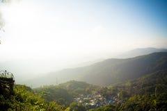 Stadt im Berg Lizenzfreies Stockbild