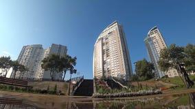 Stadt, im Freien, Park, Baum, Kiew, Architektur, stock video
