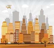 Stadt im Herbst Lizenzfreie Stockfotografie