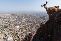 Stadt im Jemen Stockbild