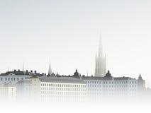 Stadt im Nebel Lizenzfreie Stockfotos