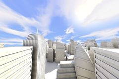 Stadt im Sun stock abbildung