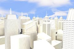 Stadt im Sun lizenzfreie abbildung