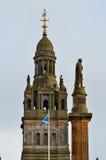 Stadt-Kammern in George Square, Glasgow, Schottland Lizenzfreies Stockfoto