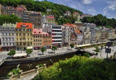 Stadt Karlovy Vary stockfotografie