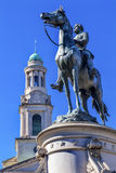 Stadt-Kirchen-Washington DC General-George Thomas Civil War Statue National lizenzfreie stockfotografie