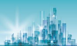 Stadt-Landschaft stock abbildung