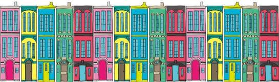 Stadt lang Stockbilder
