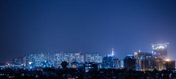 Stadt-Leuchten Stockfotografie