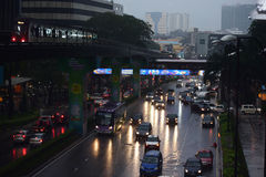 Stadt-Lichter - Kuala Lumpur Lizenzfreie Stockfotografie