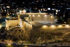Stadt-Lichter von altem Jerusalem - Israel Stockbilder