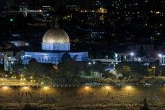 Stadt-Lichter von altem Jerusalem - Israel Lizenzfreie Stockfotos