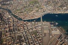 Stadt Luzerne-Kapellen-Brückenhauptanschlusssee Luzern die Schweiz Lizenzfreie Stockfotos