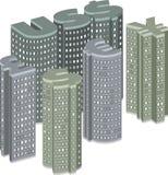 Stadt mit Gebäuden Stockbild