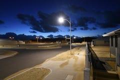 Stadt mit Leuchten stockfoto