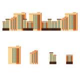 Stadt mit Wohngebäuden Stockfotos