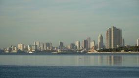 Stadt mit Wolkenkratzern und Gebäuden Philippinen, Manila, Makati stock video footage