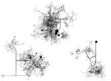 Stadt/Mittelkarte Lizenzfreie Stockfotos