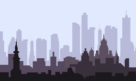 Stadt am Morgen Stockbild