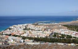 Stadt Morro Jable, Fuerteventura stockfotografie