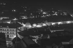 Stadt nach der Dunkelheit Lizenzfreies Stockfoto