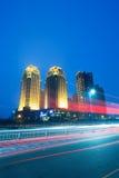 Stadt-Nacht Stockfoto