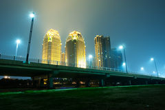 Stadt-Nacht Lizenzfreies Stockbild