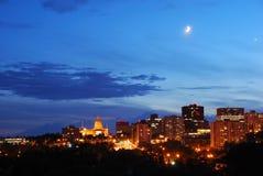 Stadt-Nachtansicht Lizenzfreies Stockfoto