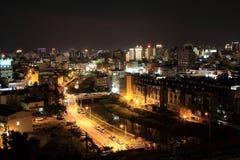 Stadt-Nachtansicht Taiwans Hsinchu Stockfoto