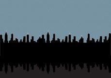 Stadt ââat Nachthintergrund Stockfoto