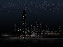 Stadt nachts Lizenzfreie Stockbilder