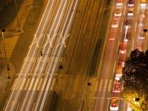 Stadt nachts 2 stockbilder