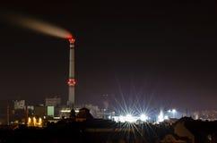 Stadt nachts Stockfotografie