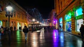 Stadt nachts Stockfotos