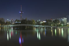 Stadt nachts, Köln (koln) Stockfotografie