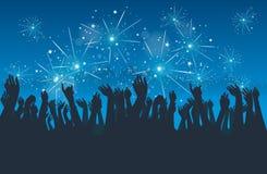 Stadt-neues Jahr-Party Lizenzfreies Stockbild
