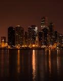 Stadt nightscape am Abend Lizenzfreies Stockfoto