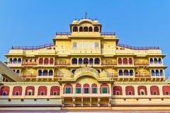 Stadt-Palast in Jaipur Stockfotos
