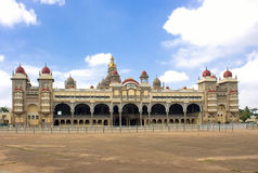 Stadt-Palast in Mysore, Südindien stockfotos