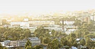 Stadt-Panorama Stockbilder