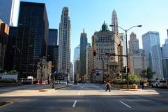 Stadt-Panorama Stockbild