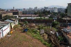 Stadt-Panorama, Addis Ababa, Äthiopien Lizenzfreie Stockbilder