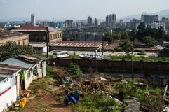 Stadt-Panorama, Addis Ababa, Äthiopien Stockfotos