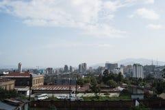 Stadt-Panorama, Addis Ababa, Äthiopien Stockbild