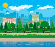 Stadt-Park-Konzept Lizenzfreies Stockfoto
