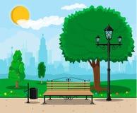 Stadt-Park-Konzept Stockbilder