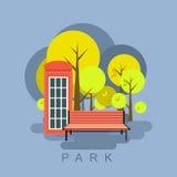 Stadt-Parkillustration lizenzfreie abbildung