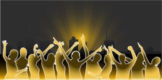 Stadt-Partys - vektorarbeit Lizenzfreies Stockbild
