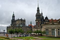 Stadt platz in Deutschland Stockbild
